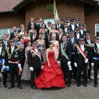 Vorstand mit Königspaar und Hofstaat